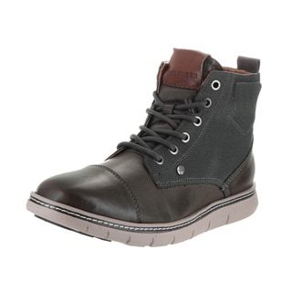 Tommy Hilfiger Men's Ferguson Grey Synthetic Leather Boots