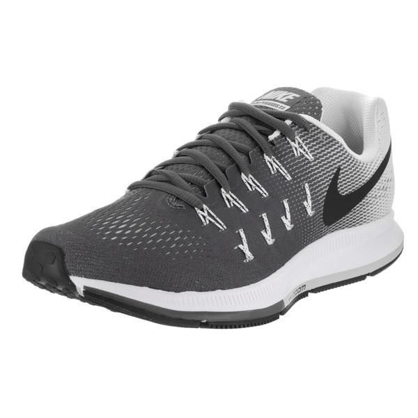 35e7f29f5a30 Shop Nike Men s Air Zoom Pegasus 33 Grey Running Shoes - Free ...