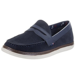 Tommy Hilfiger Men's Lyons 2 Blue Leather Loafers
