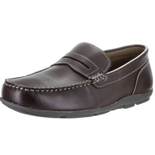 Tommy Hilfiger Men's Davey Black Synthetic Leather Loafers