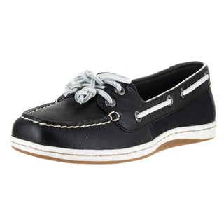Sperry Top-Sider Women's Firefish Core Black Synthetic Leather Boat Shoes