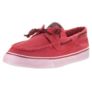 Sperry Top-sider Women's Bahama Wash Red Canvas Boat Shoes