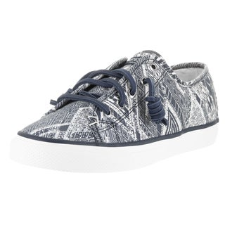 Sperry Top-sider Women's Seacoast Native Blue Canvas Casual Shoes