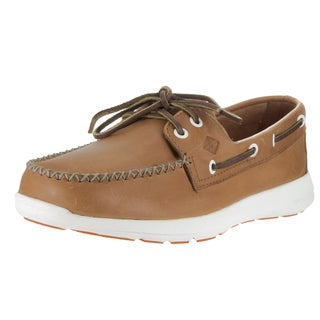 Sperry Top-Sider Men's Sojourn Brown Synthetic Leather Boat Shoes