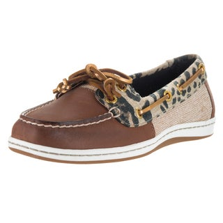 Sperry Top-Sider Women's Firefish Animal Brown Leather Boat Shoe
