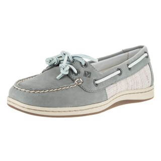 Sperry Women's Grey Leather Firefish Top Sider Core Boat Shoe