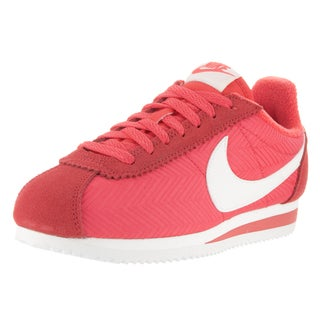 Nike Women's Red Textile Classic Cortez Casual Shoe