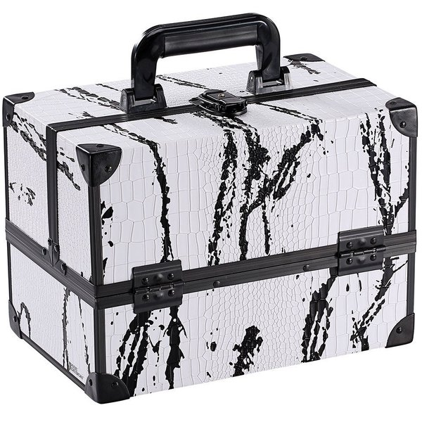 e67d490e061c Shop Ikee Design Black and White Splatter Cosmetic Travel Carrying ...