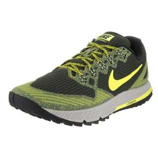 Nike Men's 'Air Zoom Wildhorse 3' Sequoia, Volt, and Bright Cactus Textile Running Shoes