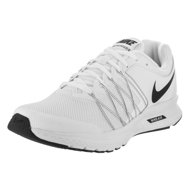 5a9c0bd987b Shop Nike Men s Air Relentless 6 White Mesh Running Shoes - Ships To ...