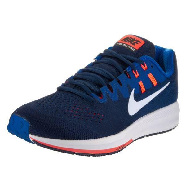 super popular 3b26b 0d5a2 Shop Nike Men's Air Zoom Structure 20 Blue Mesh Running ...
