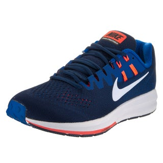 Nike Men's Air Zoom Structure 20 Blue Mesh Running Shoes
