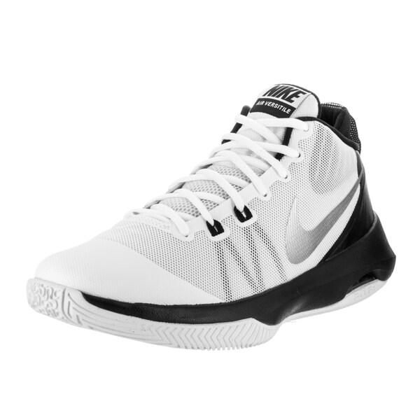 f2d85bfc82 Shop Nike Men s Air Versatile White Mesh Basketball Shoes - Free ...