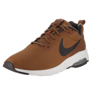 Nike Men's Air Max Motion Low Premium Brown Synthetic Leather Running Shoes