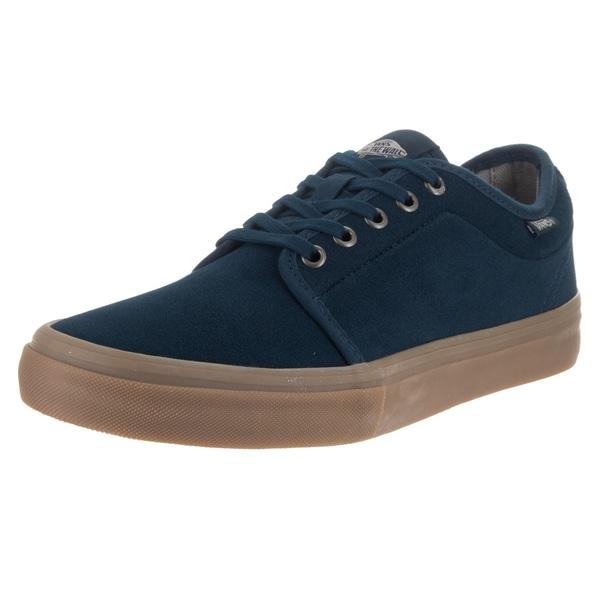 fec47dff8443 Shop Vans Men s Chukka Low Pro Dr Blue Suede Skate Shoes - Free ...