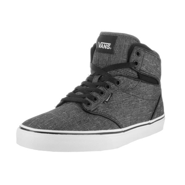 Shop Vans Men's Atwood Hi (F14 Textile) Black Canvas Skate