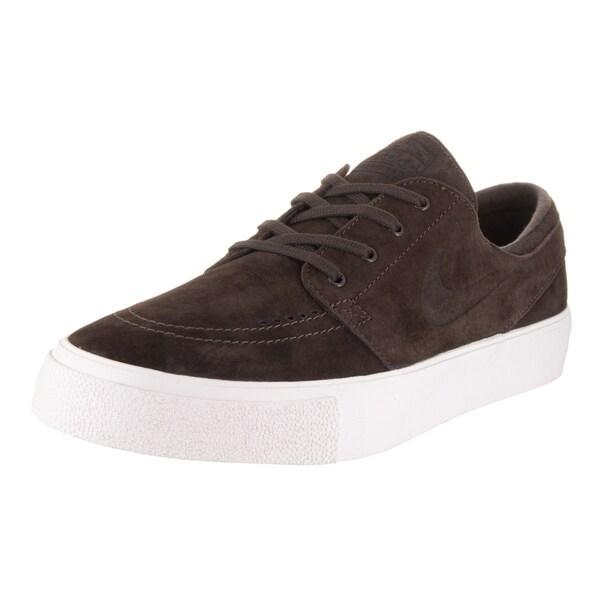 size 40 eb79d 08b23 Nike Men  x27 s Zoom Stefan Janoski Prem HT Brown Nubuck Skate Shoes