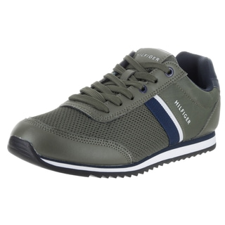 Tommy Hilfiger Men's Fallon Green Synthetic Leather Casual Shoes
