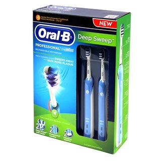 Oral-B Twin Pack Rechargeable Toothbrush with DeepSweep Brush Heads