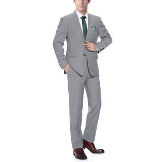 Verno Men's Grey Wool Classic-Fit 2-Piece Suit|https://ak1.ostkcdn.com/images/products/13478215/P20164314.jpg?impolicy=medium