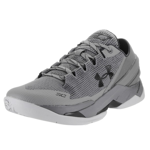 cdb12f155375 Shop Under Armour Men s Curry 2 Grey Textile Low Basketball Shoes ...