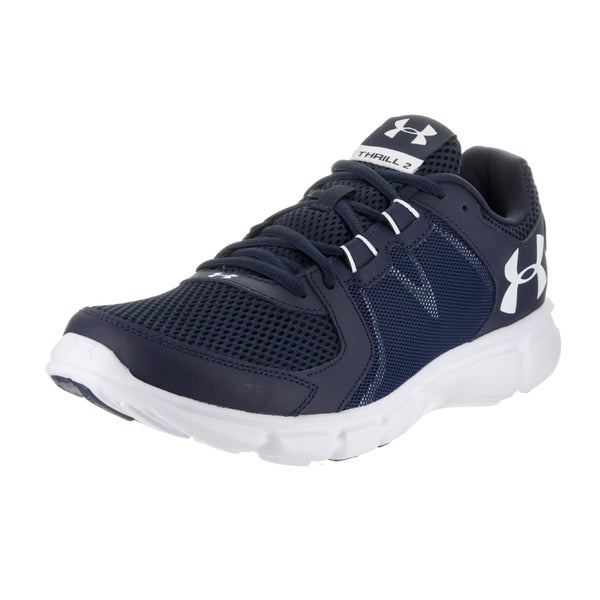 quality design a7244 0476d Shop Under Armour Men's Blue UA Thrill 2 Running Shoe - Free ...