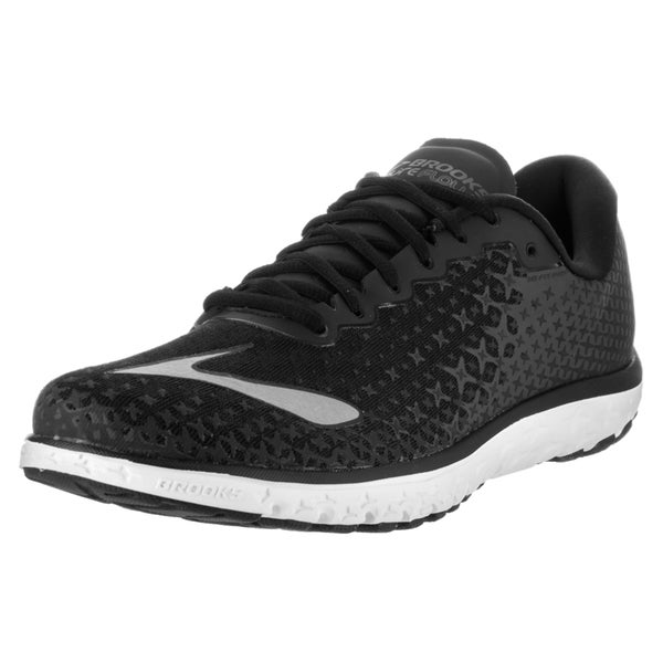 3460e55093c10 Shop Brooks Men s PureFlow 5 Black Textile Running Shoes - Free ...