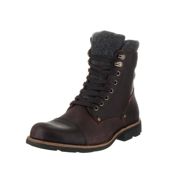 e01f9fedcdfb1 Shop Levi's Men's Lex III Brown Leather Boot - Free Shipping Today ...