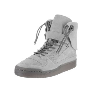 Adidas Men's Forum Grey Suede High-top Casual Shoes