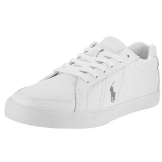 Polo Ralph Lauren Men's White Faux Leather Hugh Casual Shoe