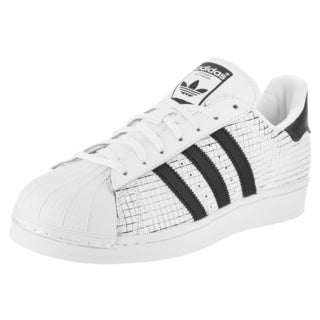 Adidas Men's Superstar Originals Black and White Leather Casual Shoes