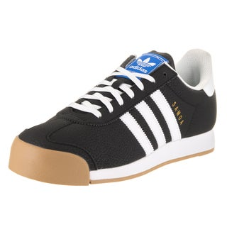Adidas Men's Samoa Originals Black Faux Leather Shoes