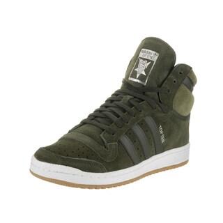 Adidas Men's Top Ten Green Suede High Top Casual Shoes