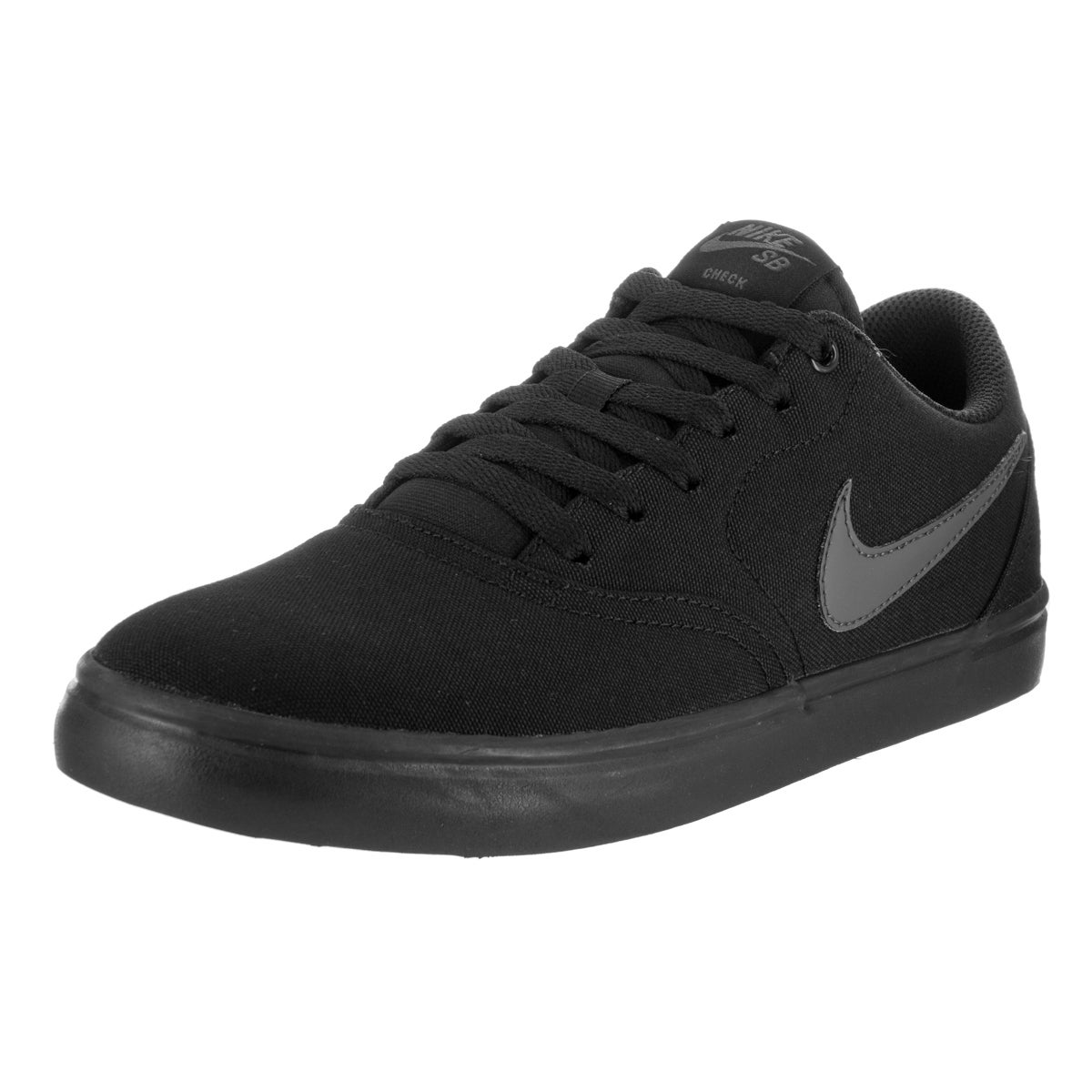 Nike Unisex SB Check Solar Canvas Skate Shoe (13), Black