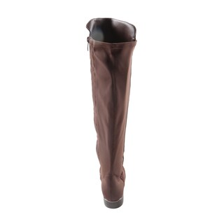 Hadari Women's Casual Knee High Low HeelBrown Winter Boots