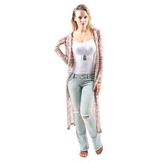 Hadari Women's Casual Trendy Stylish Open Front Hooded Lightweight Cardigan