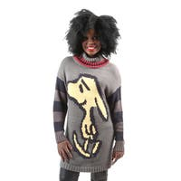 Hadari Women's Long Sleeve Knitted Snoopy Character Turtleneck Sweater