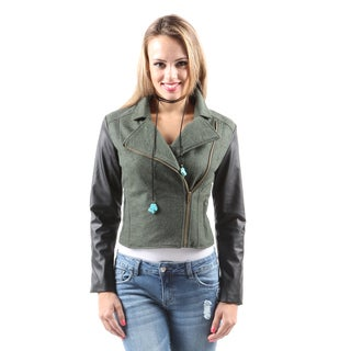 Hadari Women's Fashion Sexy Warm Side Zipper Short Mini EveningJacket