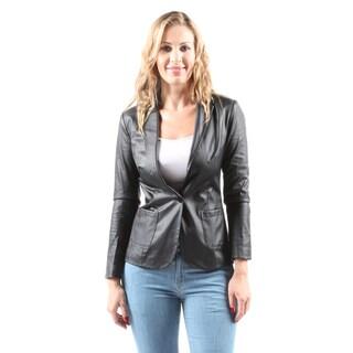 Hadari Women's Casual Fashion Stylish Warm Thin Lightweight Black Jacket