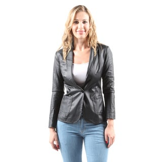 Hadari Women's Casual Fashion Stylish Warm Thin Lightweight Black Jacket