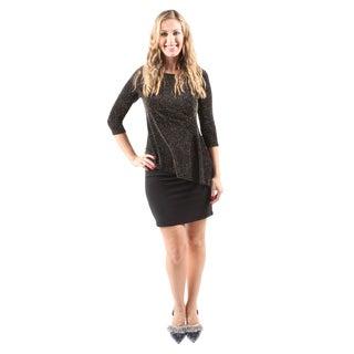 Hadari Women's Sexy Evening Party Slim Short Sequin Gold Dress