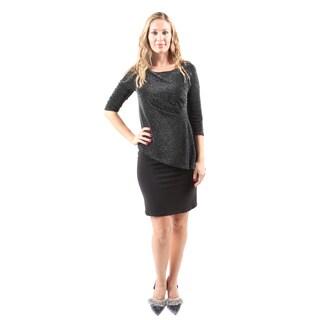 Hadari Women's Sexy Evening Party Slim Short Sequin Silver Dress