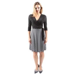 Hadari Women's Casual Sexy Party V-Neck Black Paisley Print Short Dress