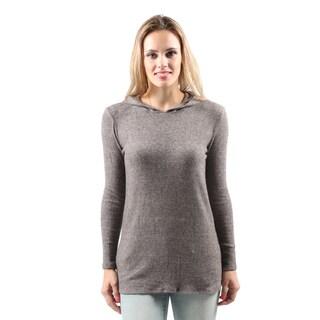 Hadari Women's Casual Cozy Warm Hooded Knit Pullover Sweater