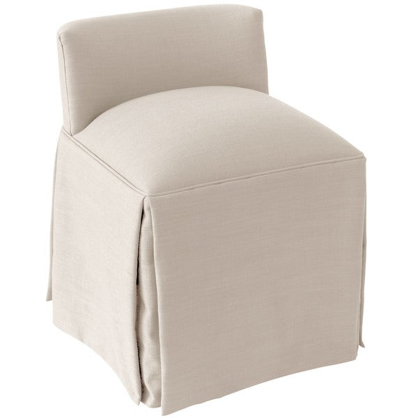 Skyline Furniture Linen Fabric Modern Vanity Chair