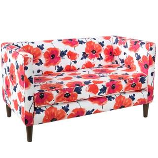 Skyline Furniture Papaver Maraschino Fabric Tufted Loveseat