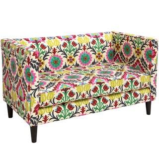 Skyline Furniture Santa Maria Dessert Flower Fabric  Tufted Loveseat - N/A