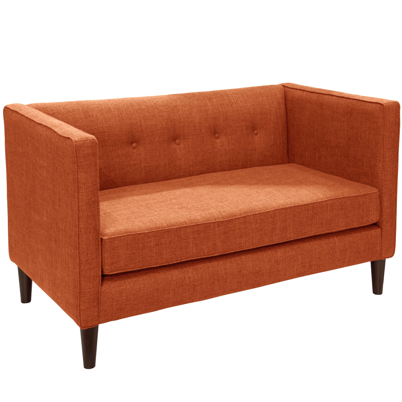 Shop Skyline Furniture Zuma Linen Fabric Tufted Loveseat