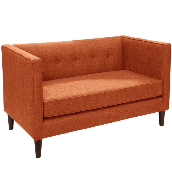 Skyline Furniture Zuma Linen Fabric Tufted Loveseat