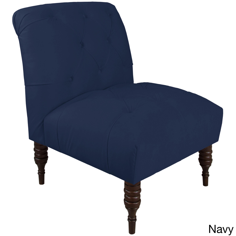 Skyline Furniture Velvet Fabric Modern Tufted Chair
